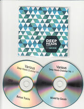 Deep Heads Dubstep Vol 1 UK 35-trk promo test 2-CD James Blake Sbtrkt Geode Rowl