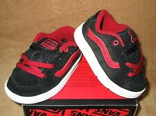 NEW VANS TRANSISTOR CHECK SHOE BLK/RED/WHITE TODDLER SZ 5