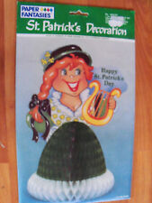 "10"" St Patricks Honeycomb Decoration 1990 Paper Fantasies New"