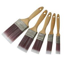 5 piece synthétique Peinture Pinceau Set - 19mm 25mm 38mm 50mm 75mm émulsion / Vernis / LAC