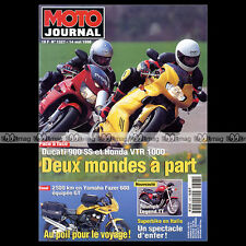 MOTO JOURNAL N°1327 HONDA VTR 1000 FIRESTORM DUCATI 900 SS YAMAHA 600 FAZER 1998