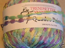 Trendsetter QUADRO PRINT Ribbon Novelty Yarn, KIWI