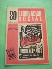 REVISTA - MAGAZINE BOLETIN DE LEGISLACION SOCIAL Nº 80