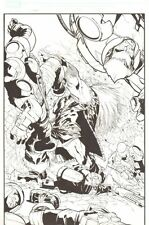 X-Men #196 p.11 - Sabretooth Action 100% Splash - 2007 art by Humberto Ramos