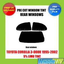 TOYOTA COROLLA 3-DOOR 1995-2002 5% LIMO REAR PRE CUT WINDOW TINT