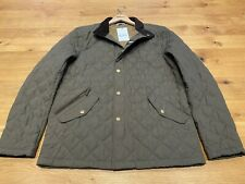 Barbour Men's Shoveler Quilted Jacket Army Green - Size Medium - New - RRP £139