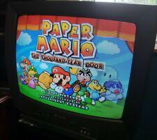 "RARE Vintage SHARP 25"" CRT 25L-S100 1999 Color TV Retro Gaming Television Tube"