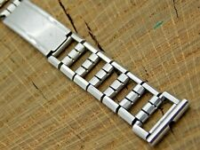 Watch Band Vintage Stainless Steel Ratchet Deployment 16mm Pre-Owned Bracelet