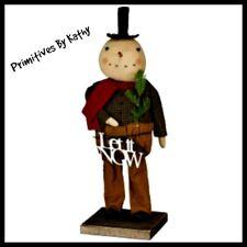Tal Primitive Standing Snowman Doll`Let It Snow Sign```Primitives by Kathy