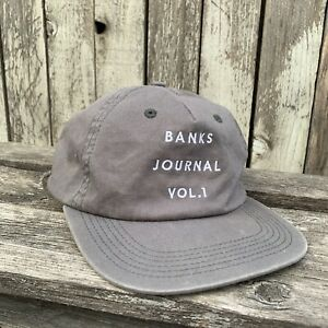 Banks Journal Vol 1 Snapback Cotton Hat in Gray