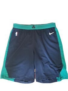 Boston Celtics Nike Authentic Black NBA Player Issued Game Shorts Size 44+2