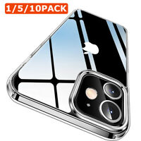 1~10x Crystal Clear Hard Shockproof Phone Case Cover For iPhone 11/12/Pro/Max US