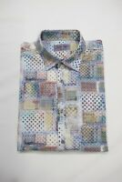 SIGNUM kurzarm Hemd, Gr. M, Mehrfarbig Patchwork Muster UVP 89,95 €