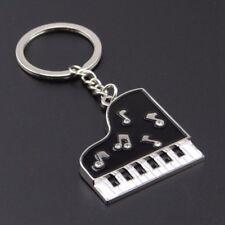 Clavier Pianos Piano Porte-clés Métal Clef Argenté Pendentif Mode Décor Sac HG
