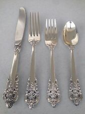 Wallace Sterling Silver Grand Grande Baroque - 4 pc Place Setting 230 Grams