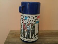 Vintage G.I. Joe Thermos 1985 Yo Joe Metal Lunchbox Hasbro Cobra Duke Hawk Dusty