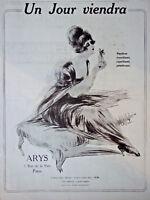 PUBLICITÉ DE PRESSE 1919 ARYS UN JOUR VIENDRA PARFUM D'ARYS