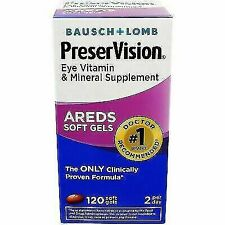 Bausch + Lomb AREDS Vitamin and Mineral Supplement - 120 Softgels Exp 10/2019