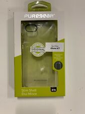Apple iPhone 8 / 7 PureGear Slim Shell Series Hard Case Cover Clear New in box