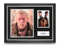 Sir John Hurt Signed Photo Framed 16x12 Doctor Who Autograph Memorabilia Display