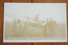 More details for c1910 first aerial post hendon early aviator airman aviation plane postcard