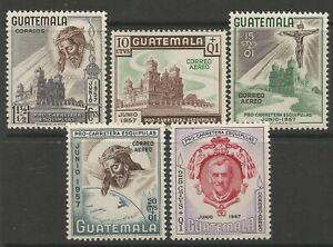 STAMPS-GUATEMALA. 1957. Esquipulas Highway Fund Set. SG: 601/05. MNH