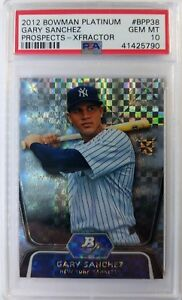 2012 Bowman Platinum Xfractor GARY SANCHEZ Rookie RC #BPP38, PSA 10, Low Pop 3