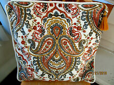 CYNTHIA ROWLER 1 THROW TOSS PILLOW COVER 20X20''HAND STITCHED BOHO TASSEL PULL