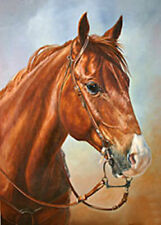 ZOPT889 fine animal horse painted hand OIL PAINTING wall art on CANVAS