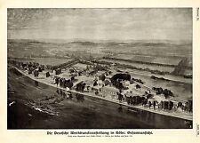 Die Deutsche Werkbundaustellung in Köln Aquarelle Müller-Meisa Gesamtansicht1914