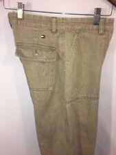 Tommy Hilfiger Women Jeans Denim TAN ACID WASH HIP HOP HTF Size 2