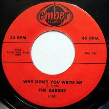 THE BARRIES 45 Why Don't You Write Me / Mary-Ann VG++ Doo Wop REISSUE e9822