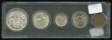 1942 Complete Canadian Coin Set with Silver