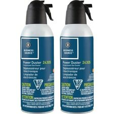 Business Source Power Duster - 10 oz - Moisture-free, Ozone-safe - 2 / Pack -
