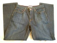 Tommy Hilfiger Womens Blue Jeans Dark Wide Straight Whiskers falls Size 8 32x30