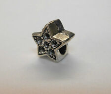 TIBETAN SILVER EUROPEAN DOUBLE SIDED STAR CHARM BEAD **