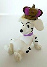 Figurine jouet articulé les 101 Dalmatien chien avec couronne king 8 cm Disney