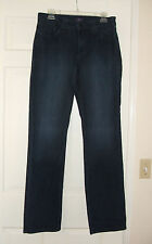 NYDJ Not Your Daughter's Jeans Women's Stretch Dark Wash Straight 12 US NEW WO/T