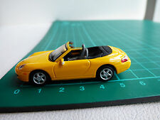 Cararama Detailed 1:72 Mini Porsche 911 Cabrio Yellow Diecast Toy Car 00 Gauge