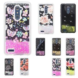 LG Rebel 3 LTE, LG Fortune 2, LG Zone 4 Cute Liquid Glitter Quicksand Case Cover