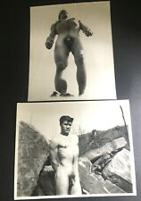 "2 VINTAGE 8X10"" BEEFCAKE PHOTOGRAPHS GOOD LOOKING NUDE OUTSIDE GAY INTEREST"