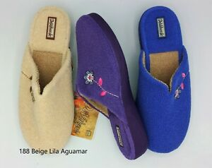 DeValverde Scuffs - Ladies -  188 Beige Lila Aguamar (Towelling)