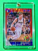 Luka Doncic RARE RED FLASH PRIZM PREMIUM STOCK 2019-20 NBA HOOPS INVESTMENT Mint