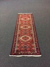 Genuine Hand Knotted Gharajeh Vintage Tribal Geometric Runner Rug 2'3x6'10,#3166