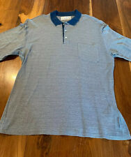 Men's Alfred Dunhill Patterned Silk-Cotton Polo Shirt Size XL