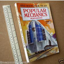 1938 Popular Mechanics Mag USA Hobby Craft & Engineering. Streamliner Cover