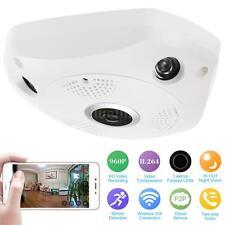Fish Eye Panoramic Wireless Electronic PTZ 360 Degree 960P Camera EU Plug G4D9