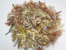50g balls Fizz knitting wool yarn Bronze Brown & Yellow fancy eyelash trim 0796
