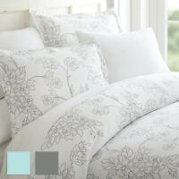 Premium 3 Piece Vine Patterned Duvet Cover Set - Hotel Collection