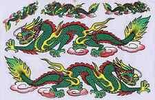 "D258 Dragon green fly Racing Tuning Sticker Decal 1 Sheet 10,5""x7"" / 27x18 cm"
